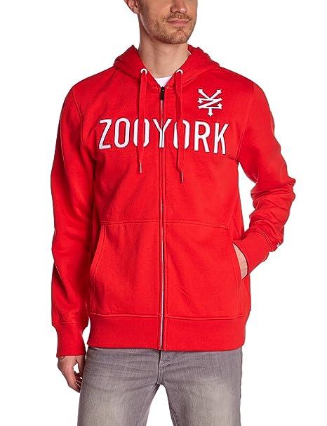 Zoo York - Sudadera con capucha para hombre, talla 46, color rojo (crimson