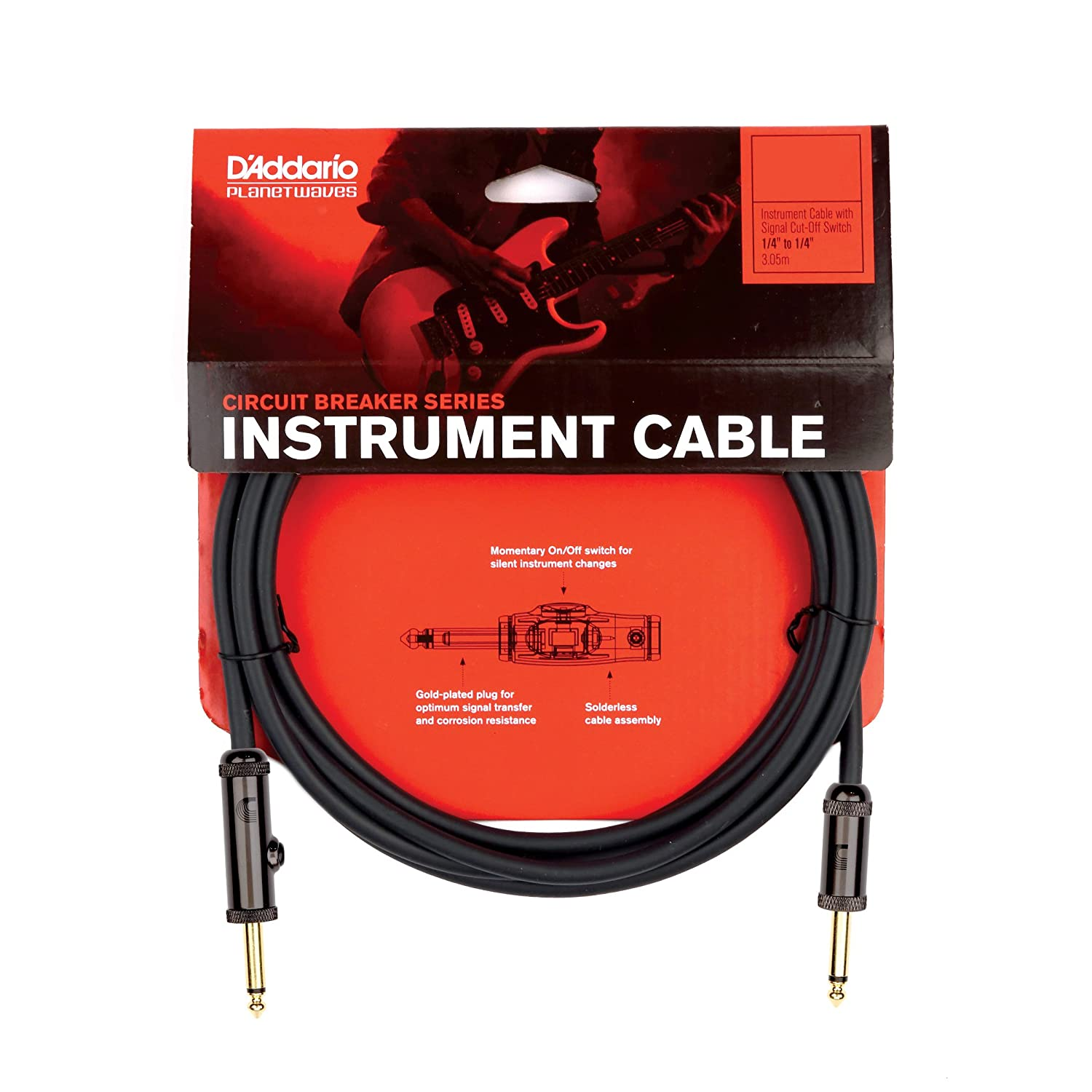Planet Waves Circuit Breaker Instrument Cable 20 Feet The Is A Switch Designed To Automatically Shut Off Musical Instruments