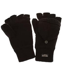 Gants thermiques Thinsulate avec capuche amovible pour homme (3M 40g) (Taille unique) (Noir)