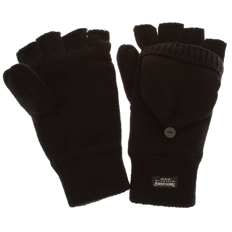 Herren Thermo Halbfinger Winter Handschuhe (3M 40g)