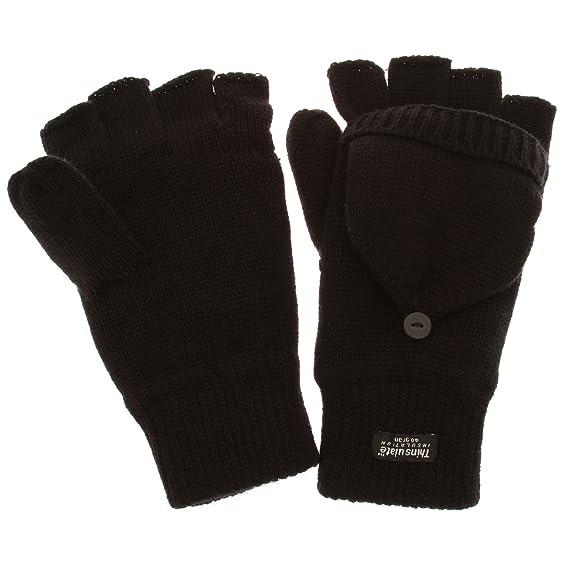 Guantes sin dedos convertibles en manoplas de invierno térmicos ...