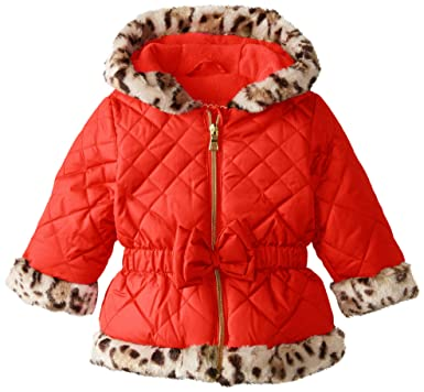 f9a000b63 Amazon.com  Pistachio Baby Girls  Quilted Jacket with Animal-Print ...