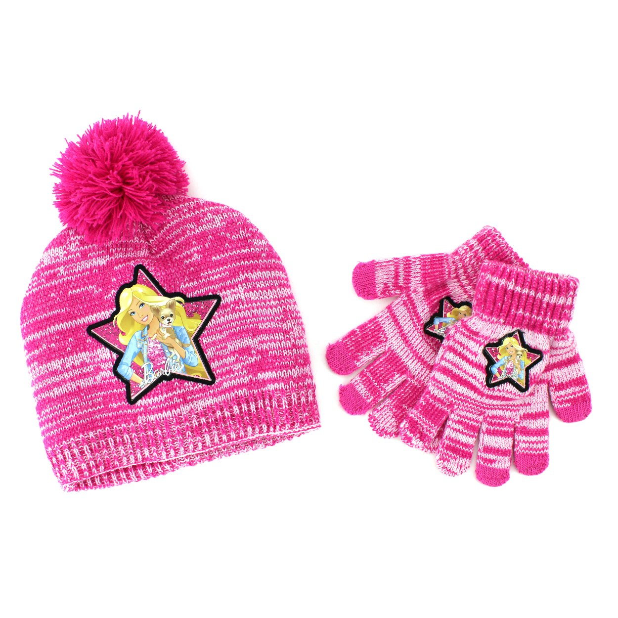 cd52d11eb0c Buy Disney Nickelodeon Mattel Girls Hat and Gloves Set (Pink Barbie) Online  at Low Prices in India - Amazon.in