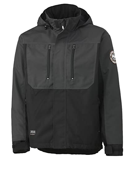 Helly Hansen Workwear Berg 34-076201-979-L Chaqueta Técnica, Hombre, L, Gris/Negro