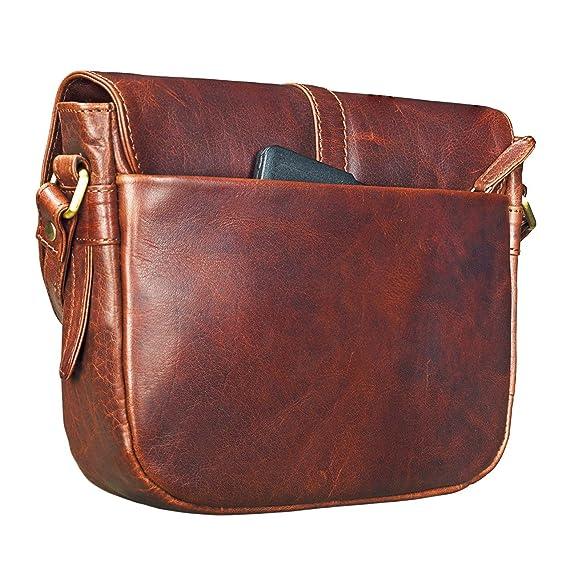 7b83c93e7 STILORD 'Kira' Bolso de mano mujeres piel vintage bolsa bandolera pequeño  para fiesta tiempo libre de cuero auténtico, Color:siena - marrón:  Amazon.es: ...