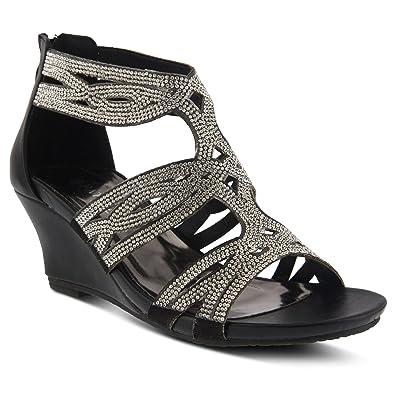 4234aa3a3d24 Amazon.com  PATRIZIA Women s Sparkling Wedge Sandal  Shoes