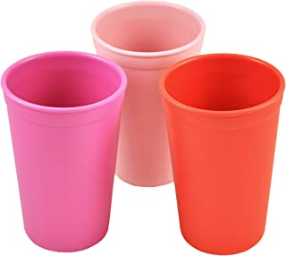product image for Re-Play Made in the USA 3pk Drinking Cups for Baby and Toddler - Bright Pink, Baby Pink, Red (Valentine)