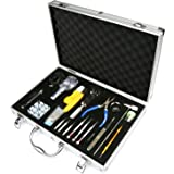 H&S® 155 Pcs Aluminum Carrying Case Watchmaker Watch Repair Tool Kit Back Case Opener Remover Spring Pin Bar