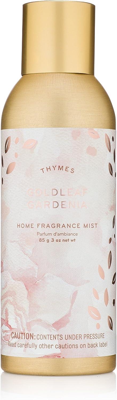 Thymes - Goldleaf Gardenia Home Fragrance Mist - Light Floral Scented Room Spray - 3 oz