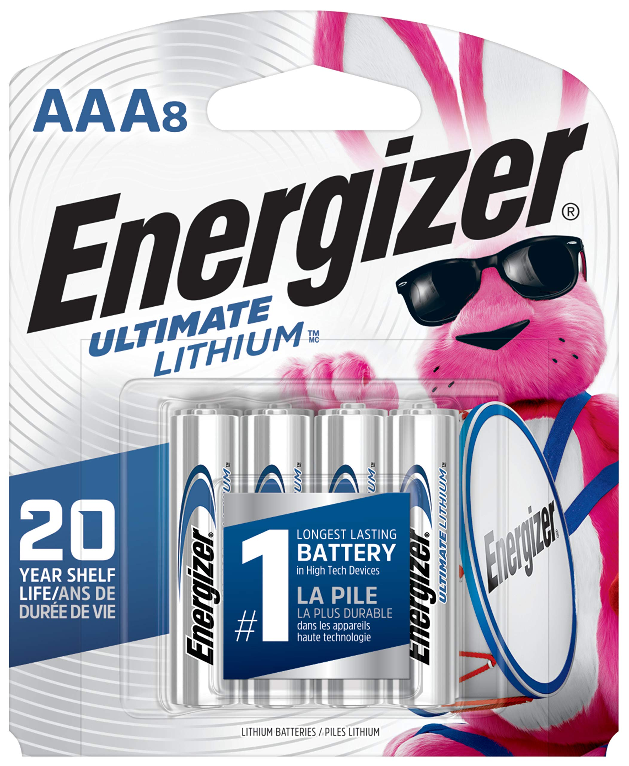 Energizer AAA Lithium Batteries, Ultimate Lithium Triple A Battery (8 Count), Longest-Lasting AAA Battery - Packaging May Vary by Energizer