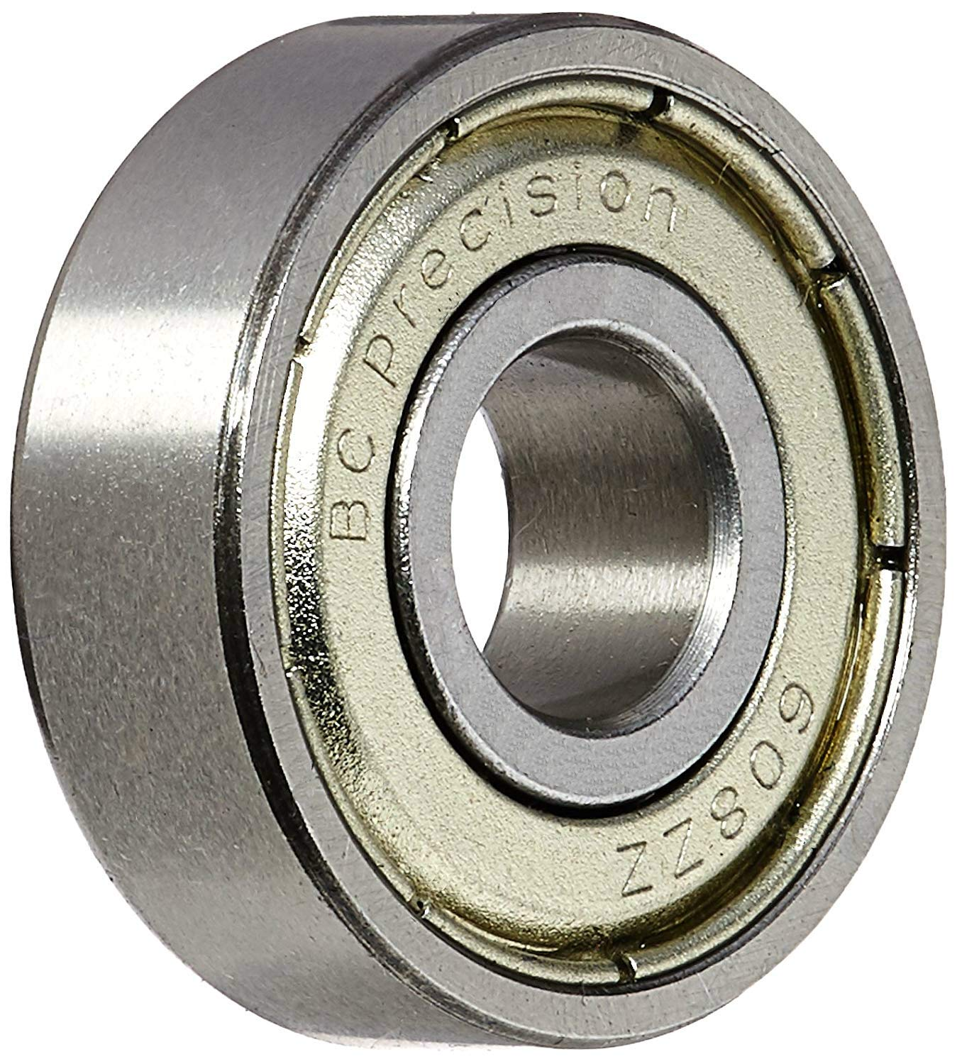 BC Precision 50BC608ZZ Fifty (50) 608ZZ 8x22x7 Shielded Greased Miniature Ball Bearings