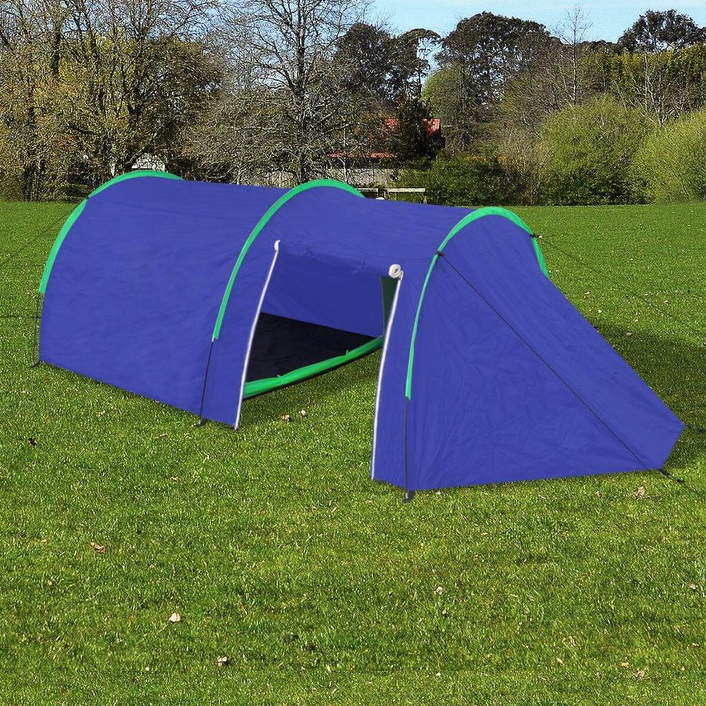 XuzhEU Zelt für 4 Personen, Marineblau/Grün