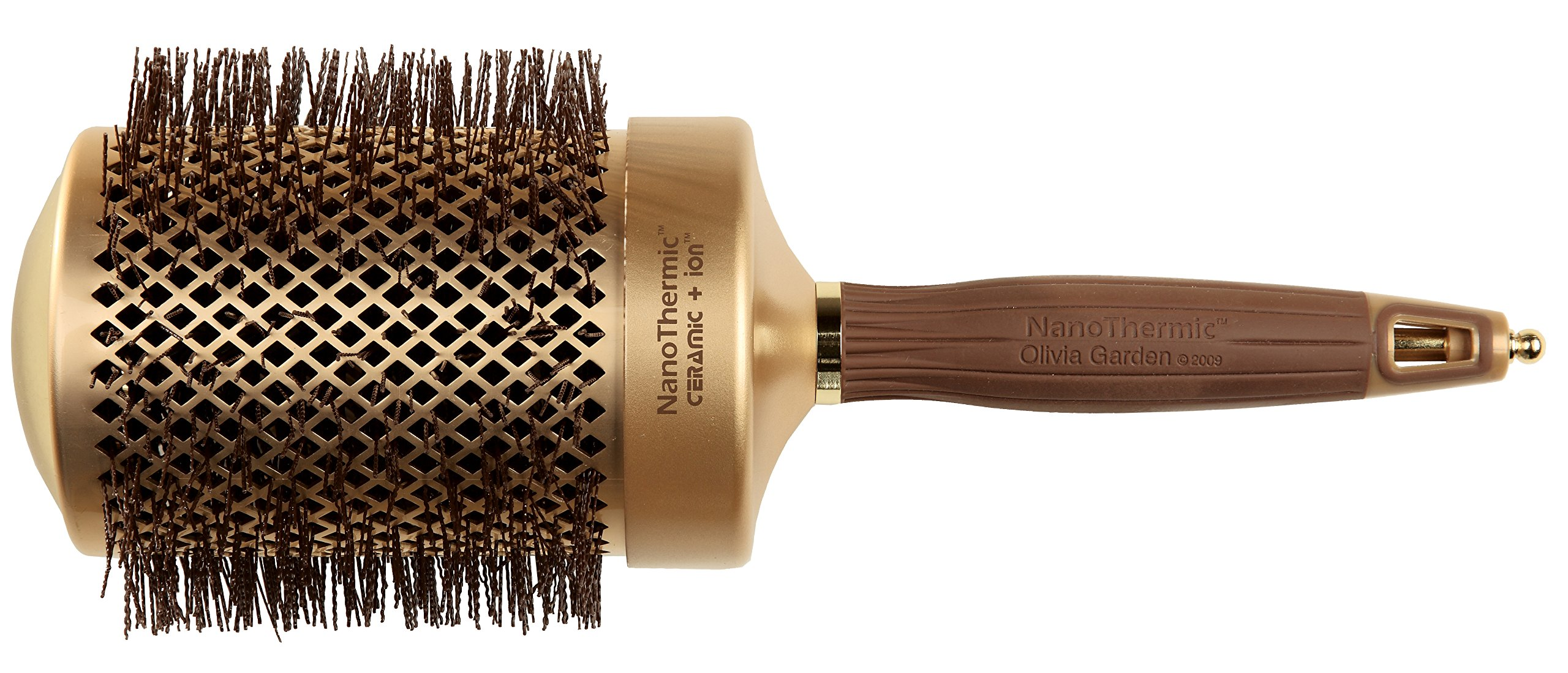 Olivia Garden Nano Thermic Ceramic Ion Brush, 3 1/4 Inch