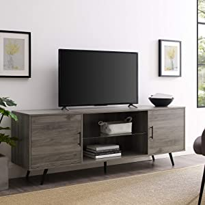 "WE Furniture AZ70NORSG TV Stand, 70"", Slate Grey"