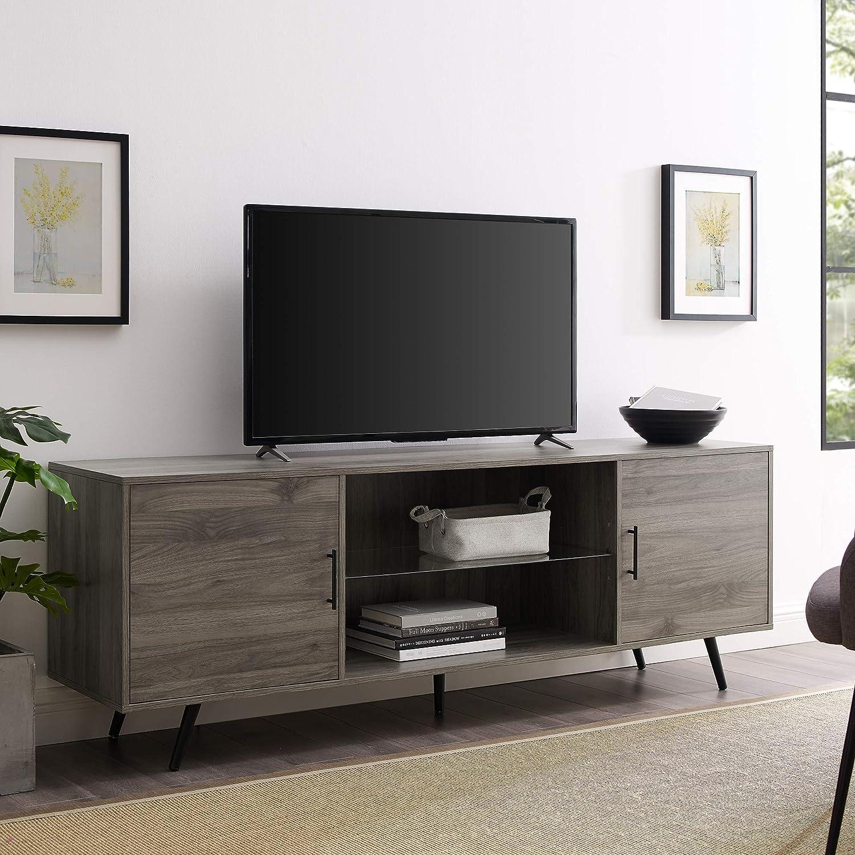 WE Furniture TV Stand, 70 , Slate Grey