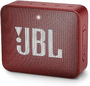 JBL GO2 Portable Bluetooth Speaker with Rechargeable Battery, Waterproof, Built-in Speakerphone, Red