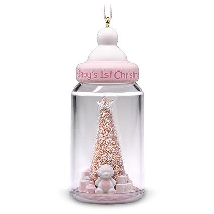 Hallmark Keepsake Christmas Ornament 2018 Year Dated Baby Girl S First Christmas Baby Bottle