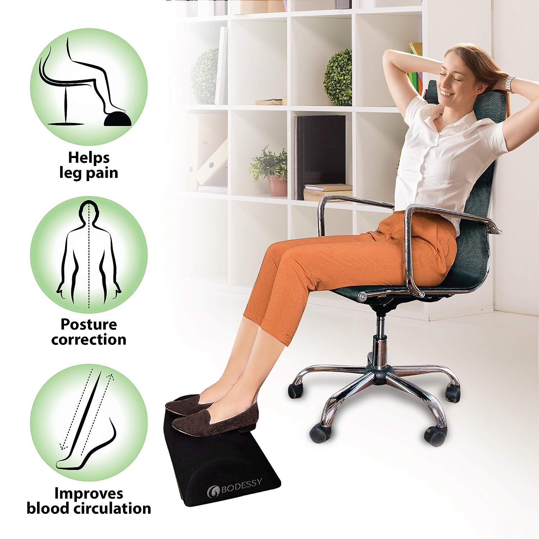 Desk Foot Stool Rocker Foot Pillow Office Home Accessories Foot Rest Under Desk Ergonomic Memory Foam Foot Cushion Non-Slip Bottom Office Foot Rest Pillow