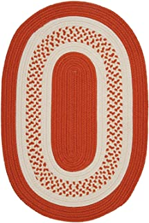 product image for Colonial Mills Home Decorative Crescent Oval Rug Orange - 8'x11'