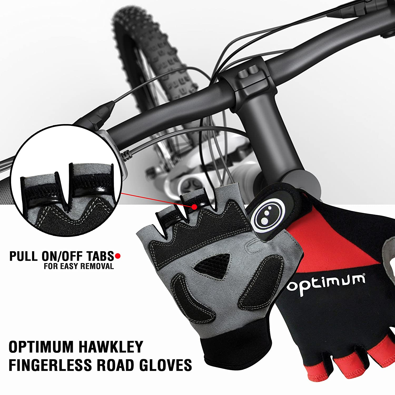 Optimum Boy's Hawkley Cycling Fingerless Road Gloves