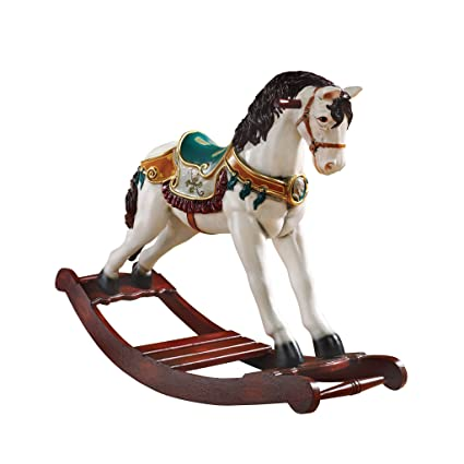 Christmas Horse Decorations.Design Toscano Christmas Decorations Victorian Christmas Carousel Horse Rocking Horse Holiday Decor Statue