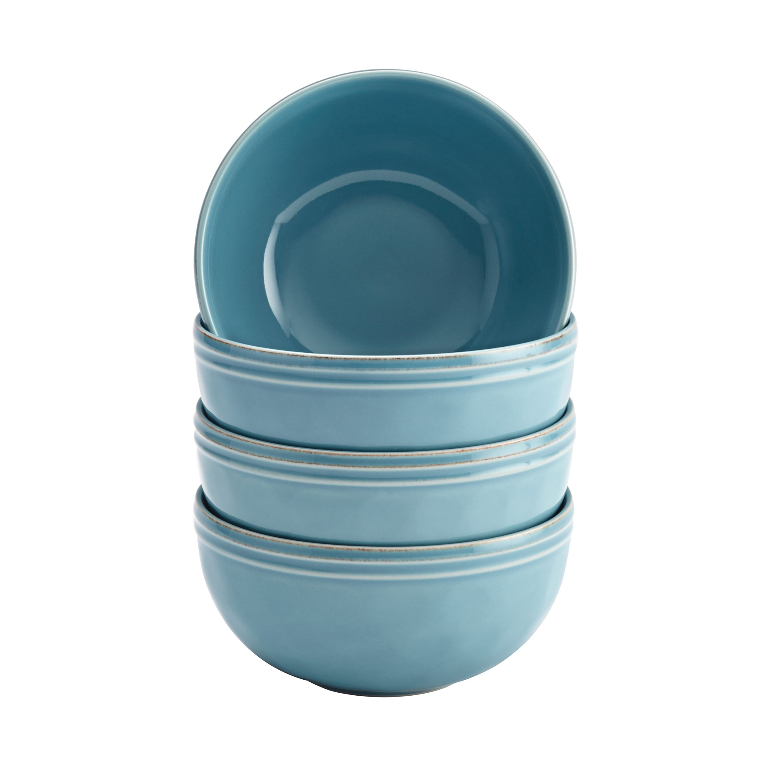 Rachael Ray Cucina Dinnerware 16-Piece Stoneware Dinnerware Set, Agave Blue by Rachael Ray (Image #4)