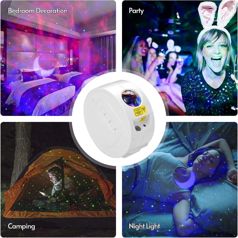 ammoon LED Projecteur /Étoil/é Lumi/ère Sc/ène Atmosph/ère Lampe Luminosit/é R/églable avec Batterie Rechargeable pour D/écoration de F/ête de Chambre /à Coucher
