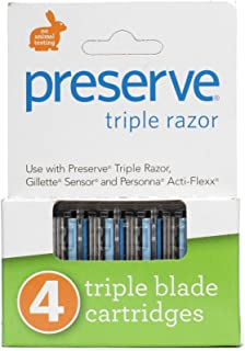 product image for Preserve PRE-5091P2 Triple Razor Replacement Blade44; 4-Pack. This multi-pack contains 2 packs.