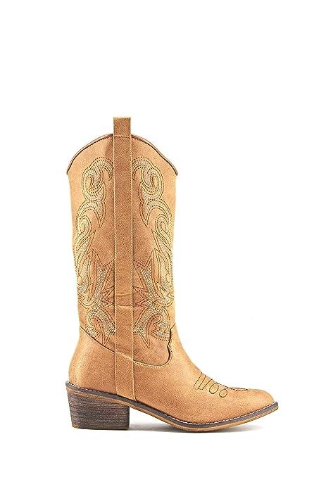 4161f628d Modelisa - Bota Estilo Cowboy Campera Bordado Mujer (37