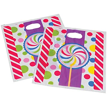 amazon com candy theme party loot goody bags with handles 96