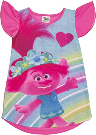 Dreamworks Trolls Poppy Girls Dress With Matching Headband Size 2T OR 4T