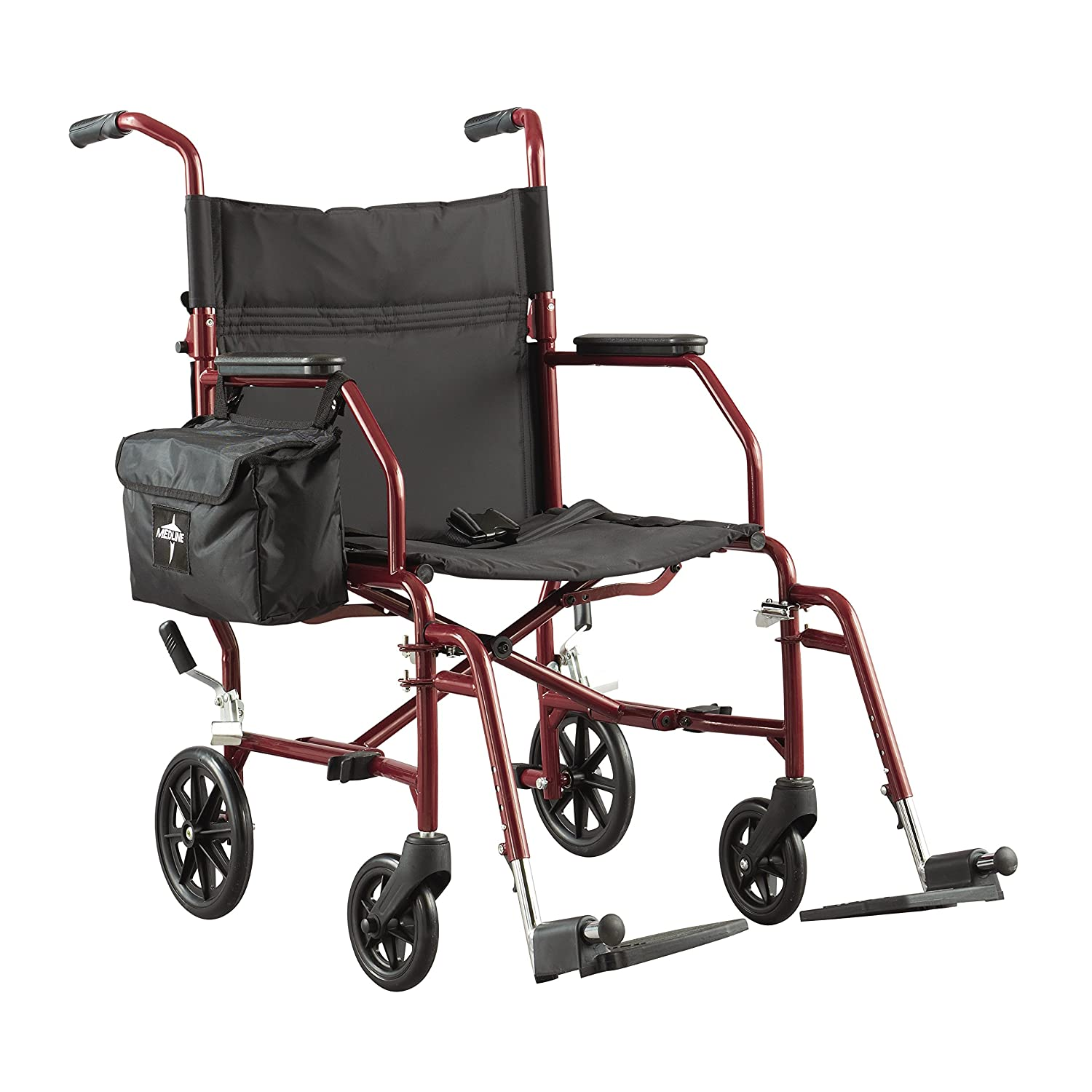 Transport chair amazon - Amazon Com Medline Lightweight Steel Transport Chair 19 Wide Seat Desk Length Arms Swing Away Footrests Burgundy Frame Health Personal Care