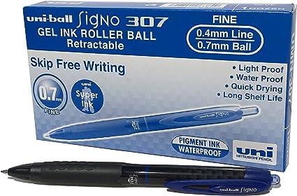 tipo roller Penne gel UMN-307 Signo 307 RT inchiostro gel nero confezione da 3 pezzi