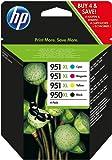 HP 950XL/951XL Multipack Original Druckerpatronen (Schwarz, Blau, Rot, Gelb) mit hoher Reichweite für HP Officejet Pro