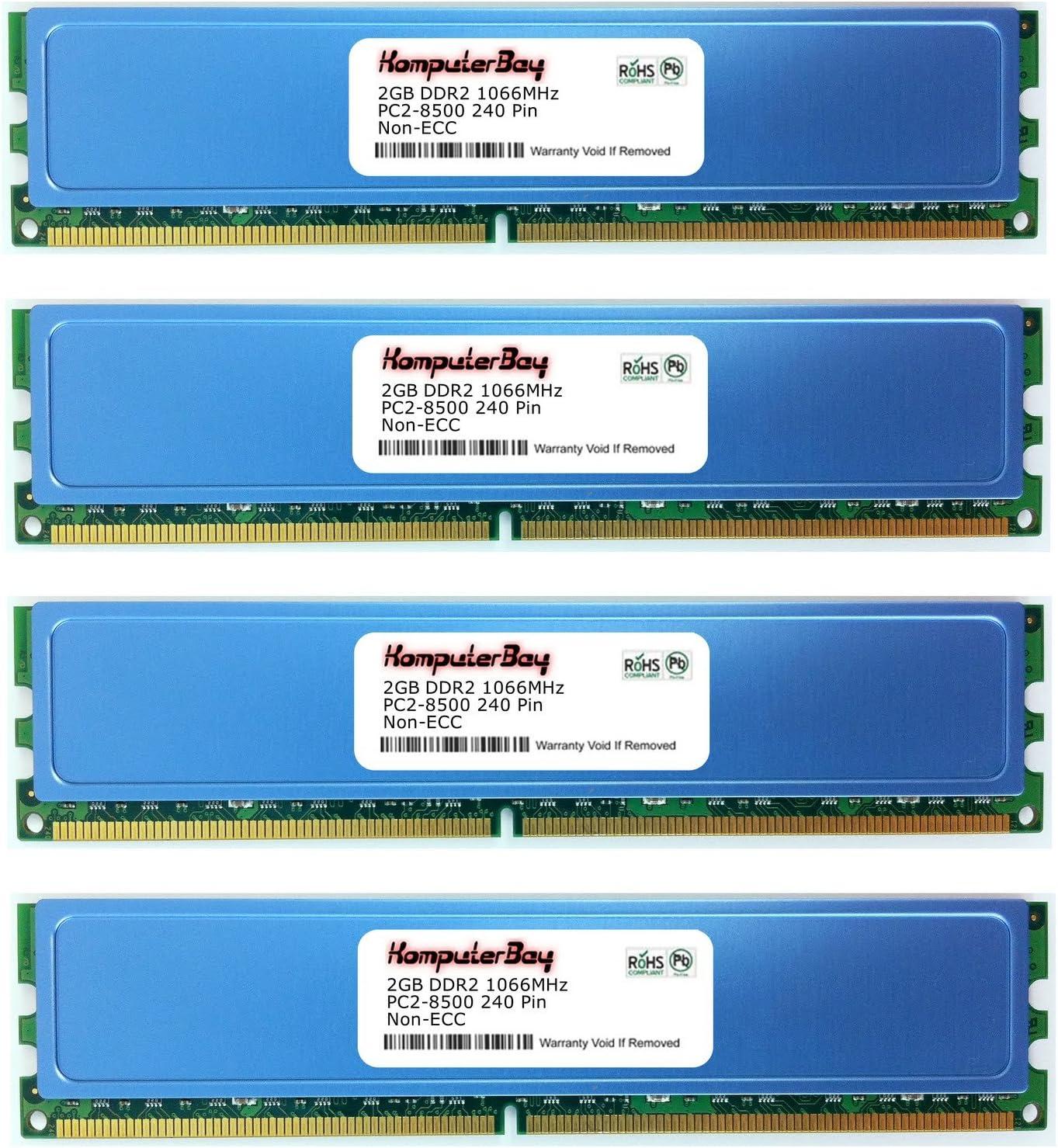 KOMPUTERBAY 8GB DDR2 DIMM 4 X 2GB AM2 1066Mhz PC2 8500 for Gigabyte GA-MA790GP-DS4H 8 GB 240 PIN