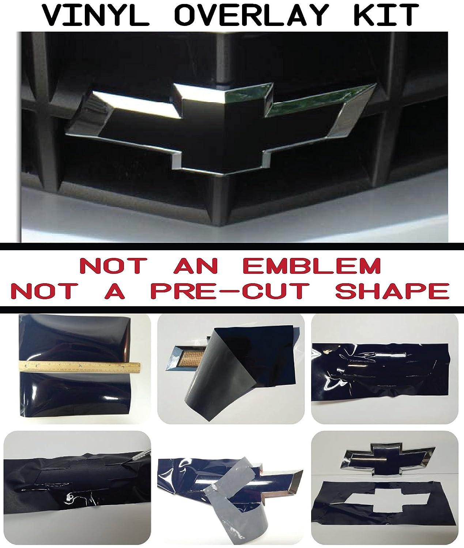 Chevy Bowtie Emblem Overlay Kit - DIY, Silverado, Colorado, Suburban, 1500, S10, Tahoe, Camero BLACK MATTE, 651 ORACAL w/Extra Sheet