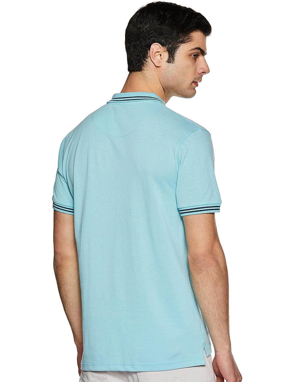 Aqua Colour Men's Solid Slim Fit Polo