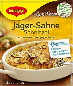 MAGGI fix & fresh creamy hunter schnitzel (Jäger-Sahne Schnitzel) (Pack of 4)
