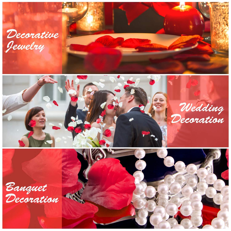 isimsus Pétalos de Rosa, 3000 Piezas Seda Rojo Rosa Pétalos Hermosos Rojo Flores de Rose para Bodas Decoración Fiestas Confeti, Petalos Artificiales, ...