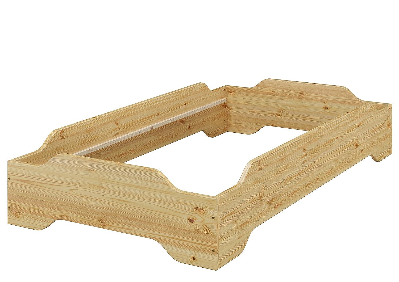 Erst-Holz® Stapelbett, Jugend Bett, Designer Bett 140x200 Massivholz ...