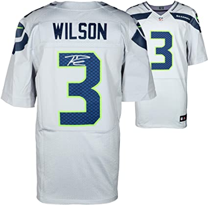 the best attitude 2afa7 64fcc Amazon.com: Russell Wilson Seattle Seahawks Autographed Nike ...