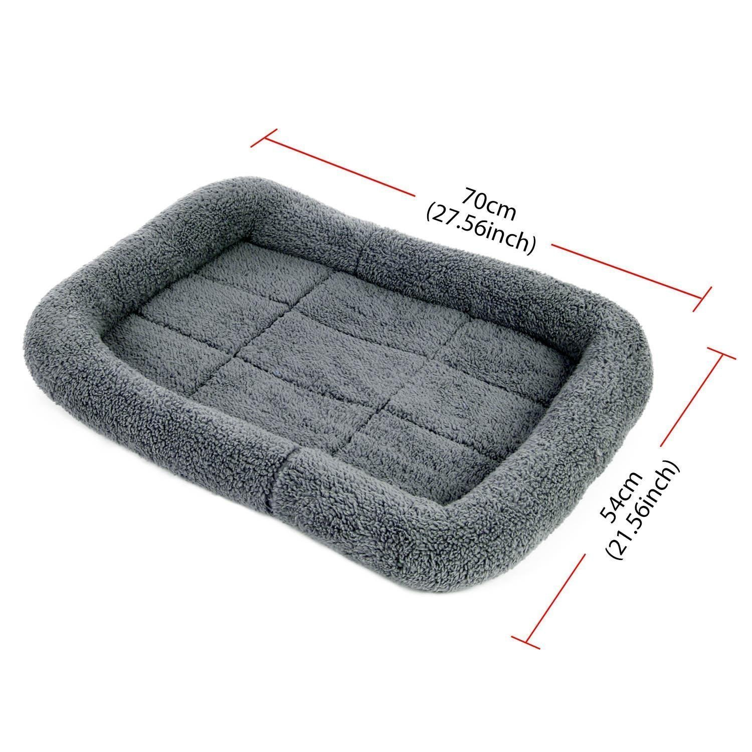 Pecute Pet Cushion Sleeping Mat for Dog Comfortable Coral Velvet Pillow Crate Bed (27.5*21.2INCH)