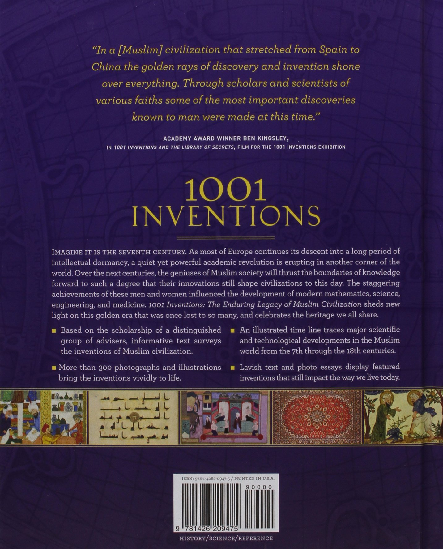 LIMITED EDITION EXCLUSIVE HARD-BACK 1001 Inventions: The Enduring Legacy of Muslim  Civilization (Third Edition) (£24.99): 9781426209475: Amazon.com: Books