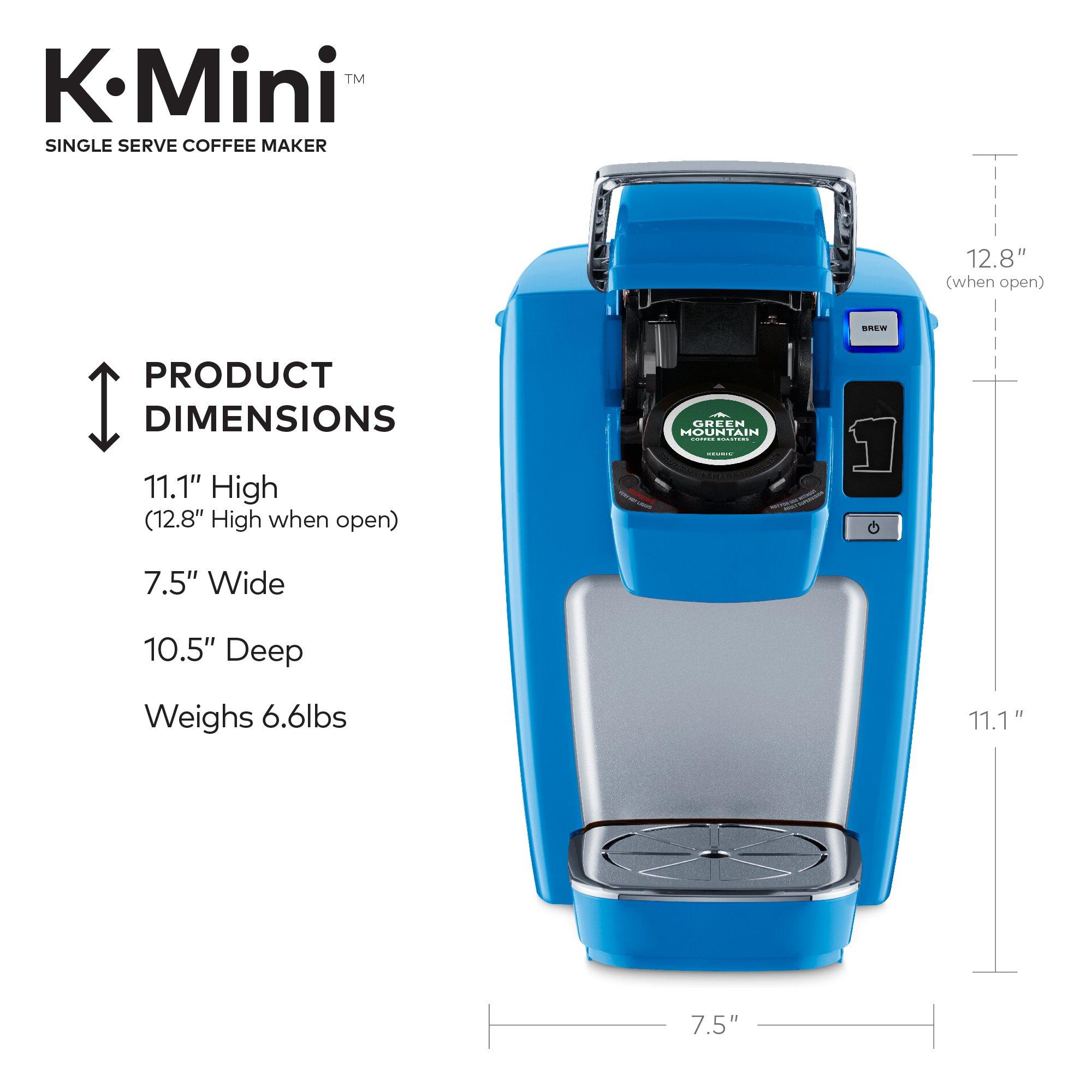 Keurig K15 Single Serve Compact K-Cup Pod Coffee Maker, True Blue by Keurig (Image #4)