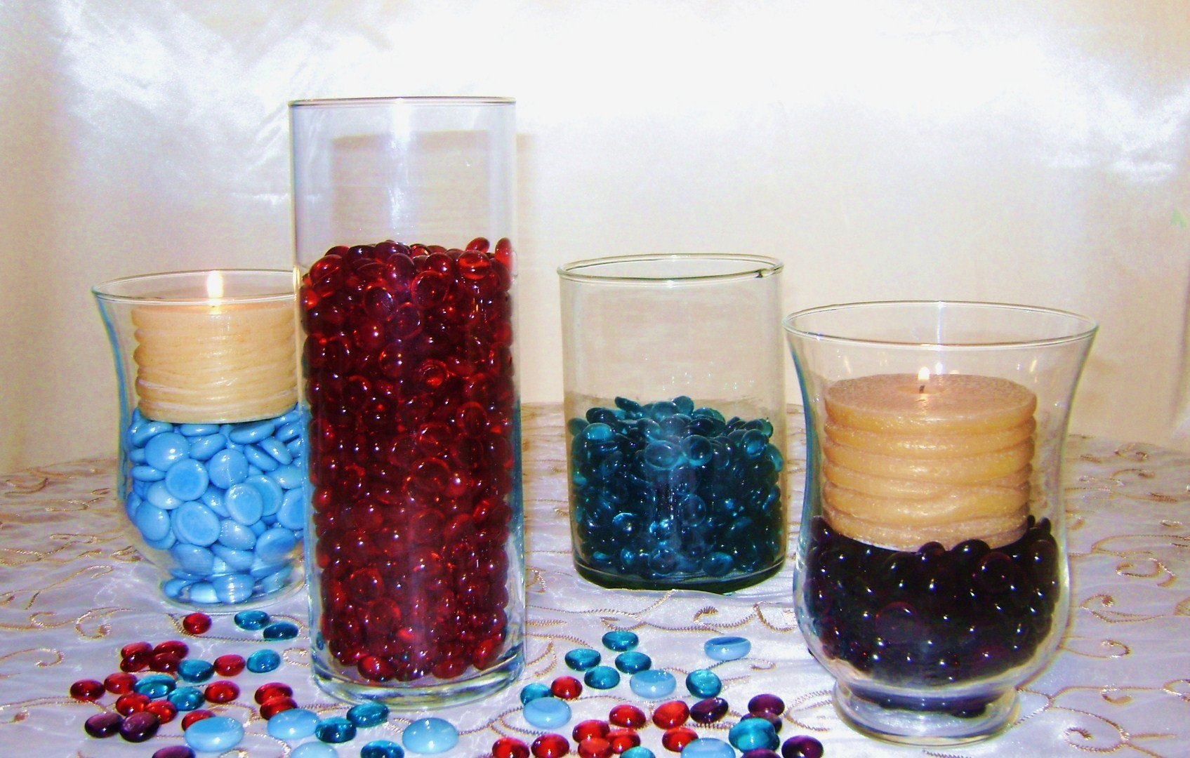 Creative Stuff Glass - 1 LB Scarlet Red - Glass Gems - Vase Fillers by Creative Stuff Glass