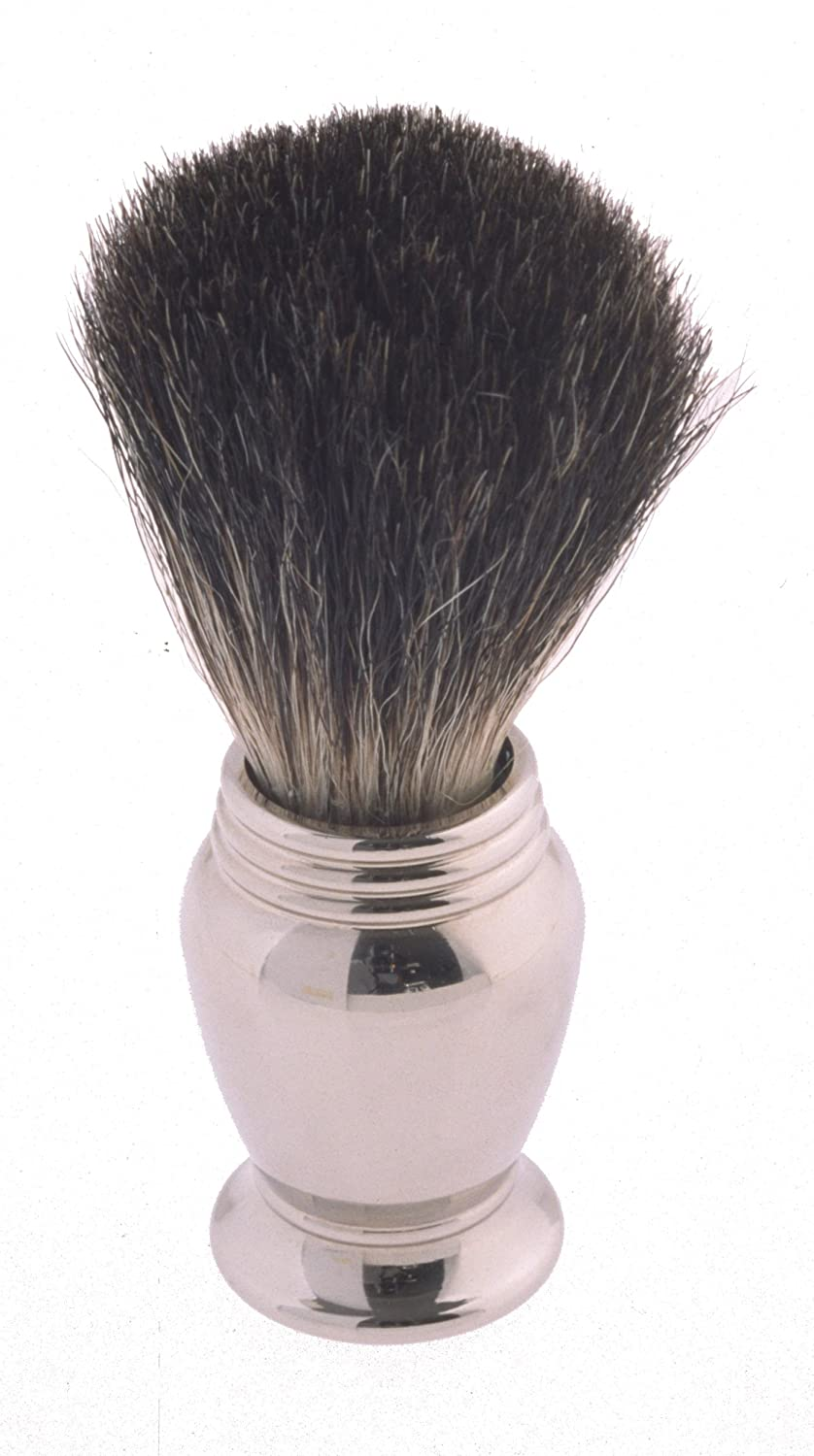 Col. Conk Products Model 247 Pure Badger Shaving Brush with Chrome Handle