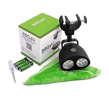 bbq4u Mango – Super Luz de parrilla para barbacoa con luz LED (10 ledes,