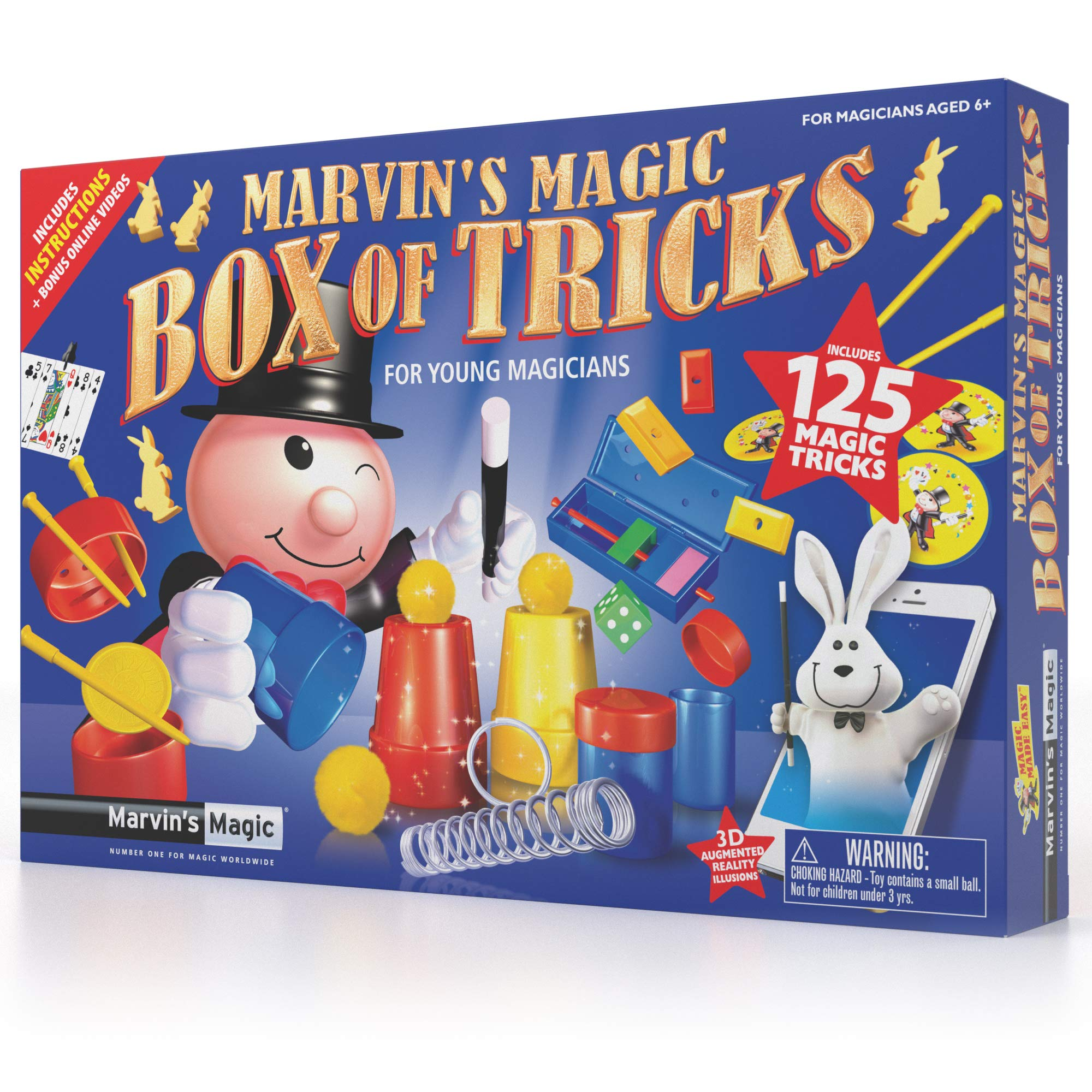 Marvin's Magic - 125 Amazing Magic Tricks for Children | Kids Magic Set | Magic Tricks for Kids Including Magic Wand, Card Tricks + Much More | Suitable for Age 6+