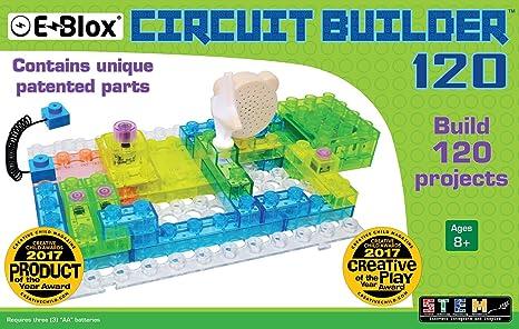 Amazon.com: E-Blox Circuit Builder 120 Building Set: Toys & Games