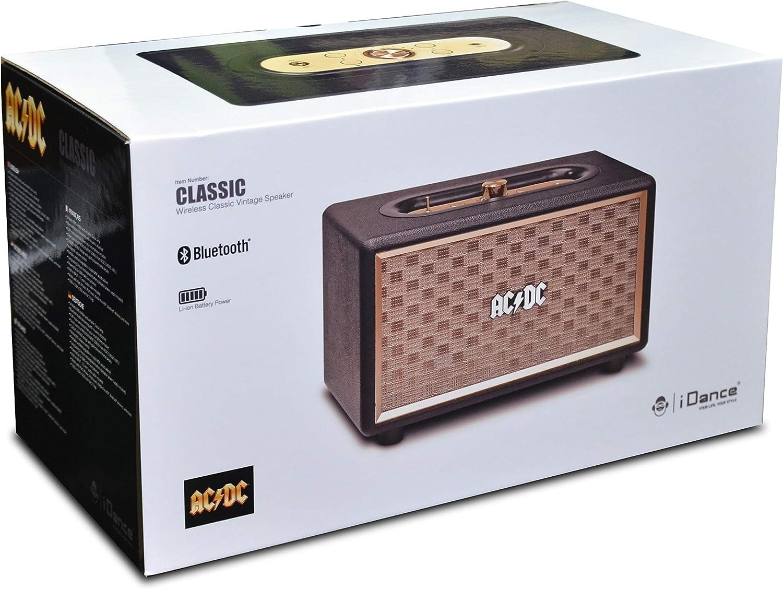 iDance ACDC Classic 3 20W Negro 20 W, Inal/ámbrico y al/ámbrico, Micro-USB, Negro, Oro, Rect/ángulo, Giratorio Altavoces port/átiles Oro